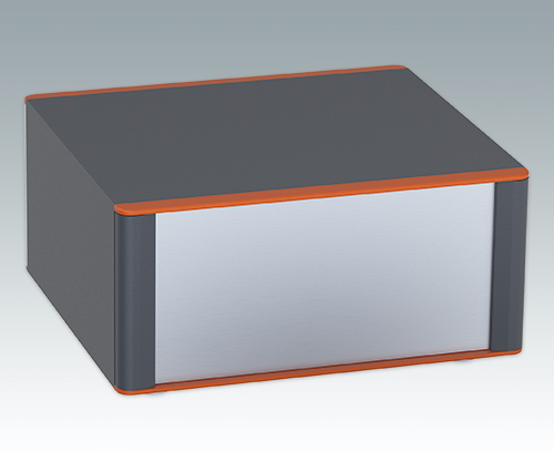 Technomet enclosure with orange bezel highlight