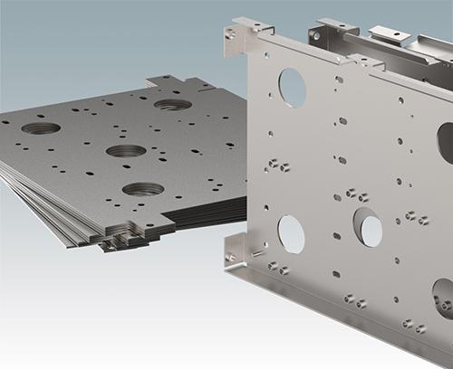 CNC-Stanzen und Abkanten