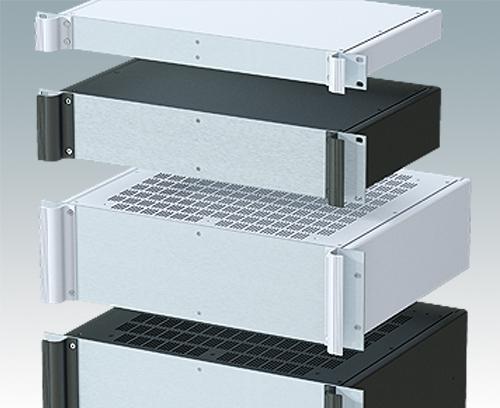 Vielseitige 19-Zoll-Rack-Gehäuse in den Größen 1 HE bis 6 HE