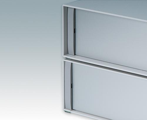 Frontplatten sind um 8 mm oder 14 mm vertieft