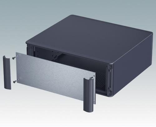 Steckbare Front-Design-Blenden verbergen die Befestigungsschrauben am Gehäuse und an der Frontplatte